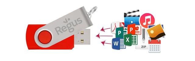 Flash Drive 預載數據資料與檔案