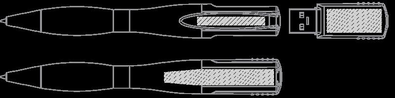 USB 筆型隨身行動碟 網版印刷
