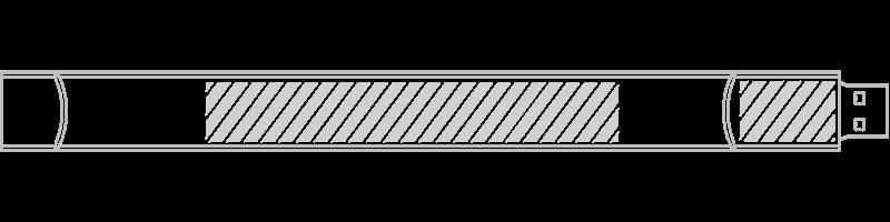 USB手環創意隨身碟 網版印刷